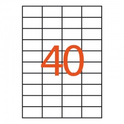 40 etiquetas adhesivas