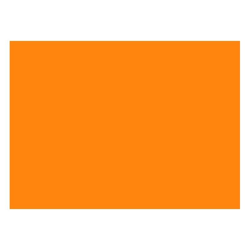 Adhesivo naranja radiante