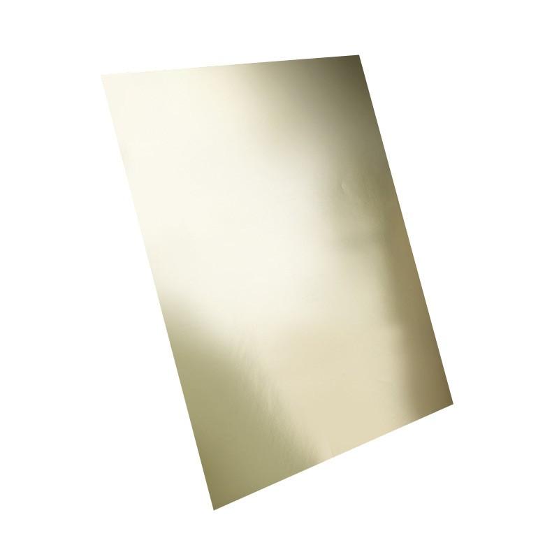 Adhesivo metalizado oro mate