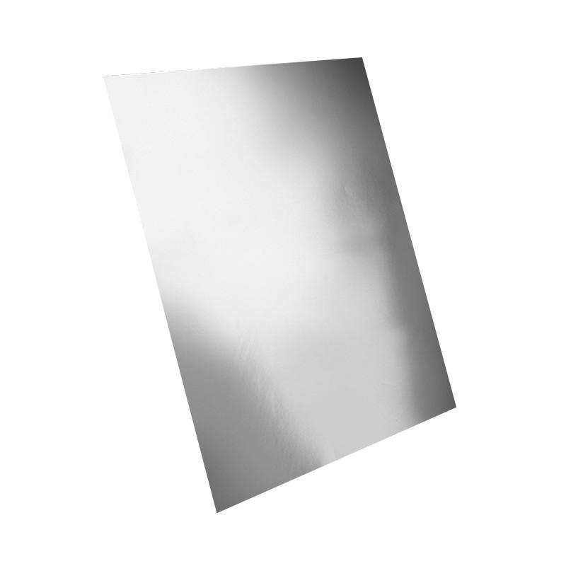 Adhesivo metalizado plata mate
