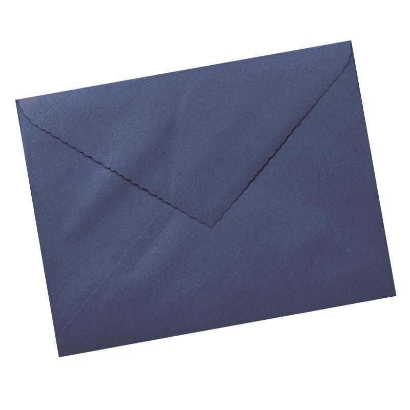 Sobre 160x220 azul metalizado