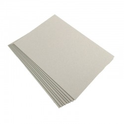 Cartón contracolado gris 1,5 mm.